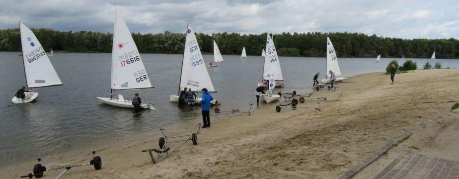 8-Seen-Regatta 2019 - Boote zu Wasser