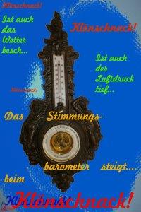 Das Barometer steht auf Klönschnack!